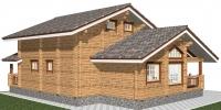 Деревянный дом Удобный (Вид 3)