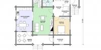 Деревянный дом Удобный (План 1)