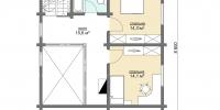 Деревянный дом Удобный (План 2)