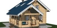 Деревянный дом Уютный (Вид 1)