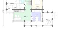 Деревянный дом Уютный (План 1)