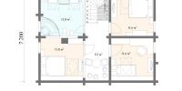 Деревянный дом Уютный (План 2)