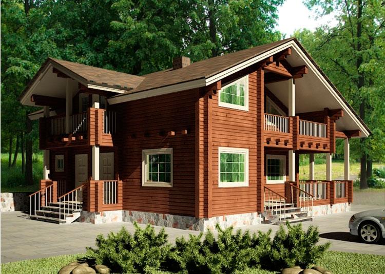 Деревянный дом Надежный